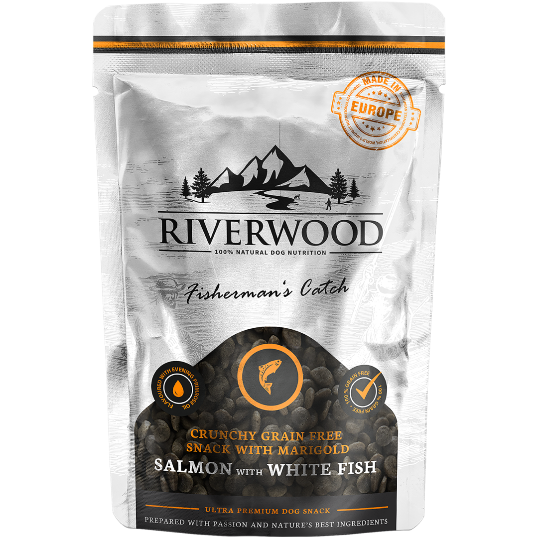 Riverwood Fishermans Catch Salmon & White Fish crunchy 200 gr