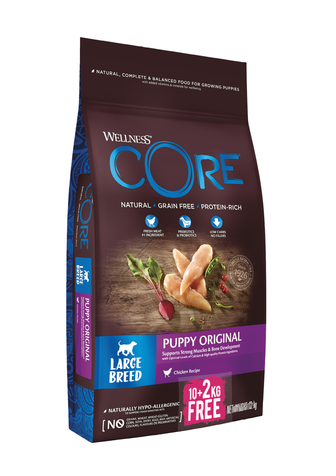 Wellness CORE hondenvoer Large Breed Puppy 10 + 2 kg