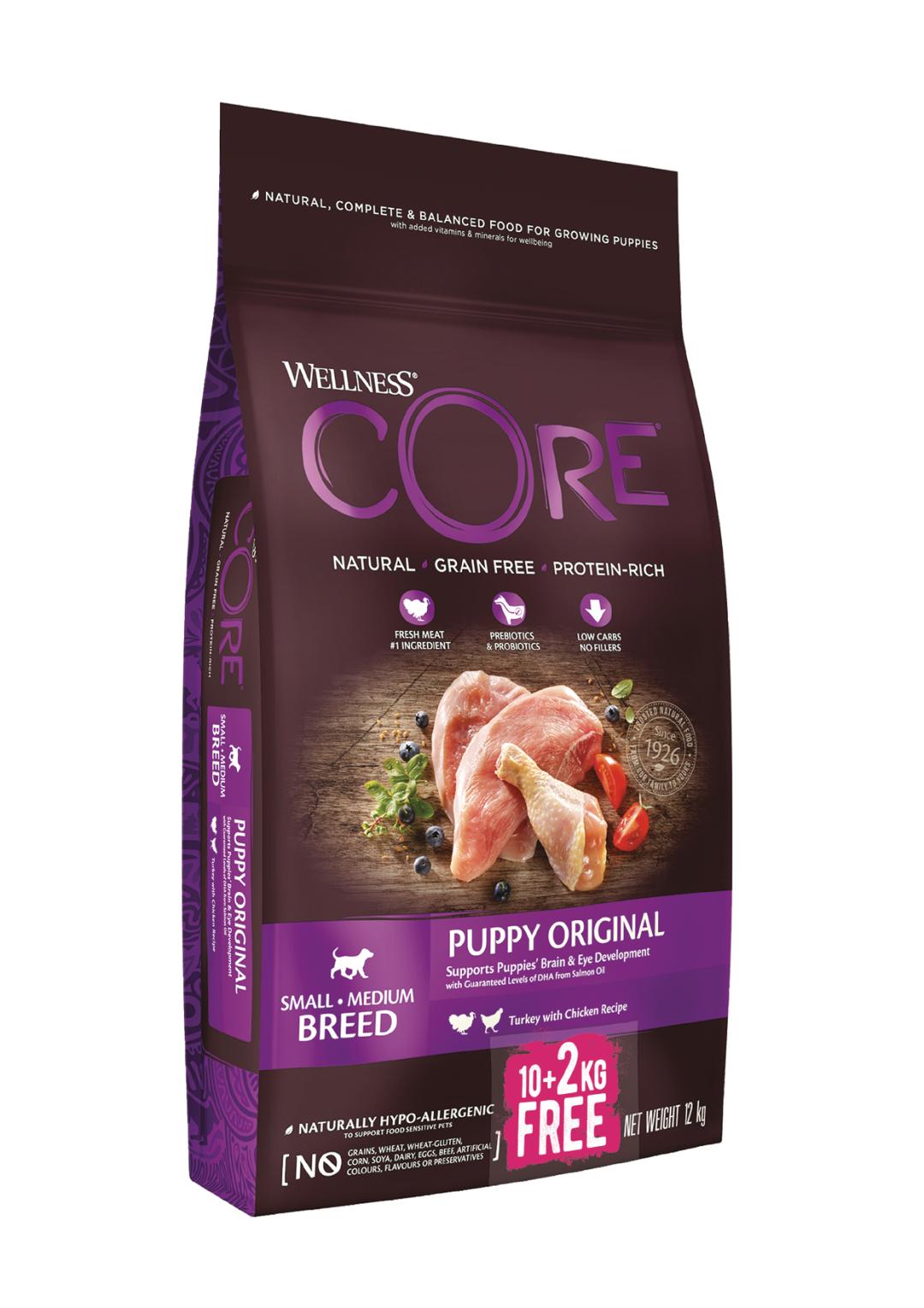 Wellness CORE hondenvoer Puppy <br>10 + 2 kg