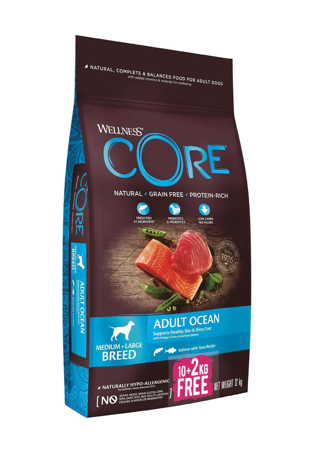 Wellness CORE hondenvoer Ocean <br>10 + 2 kg