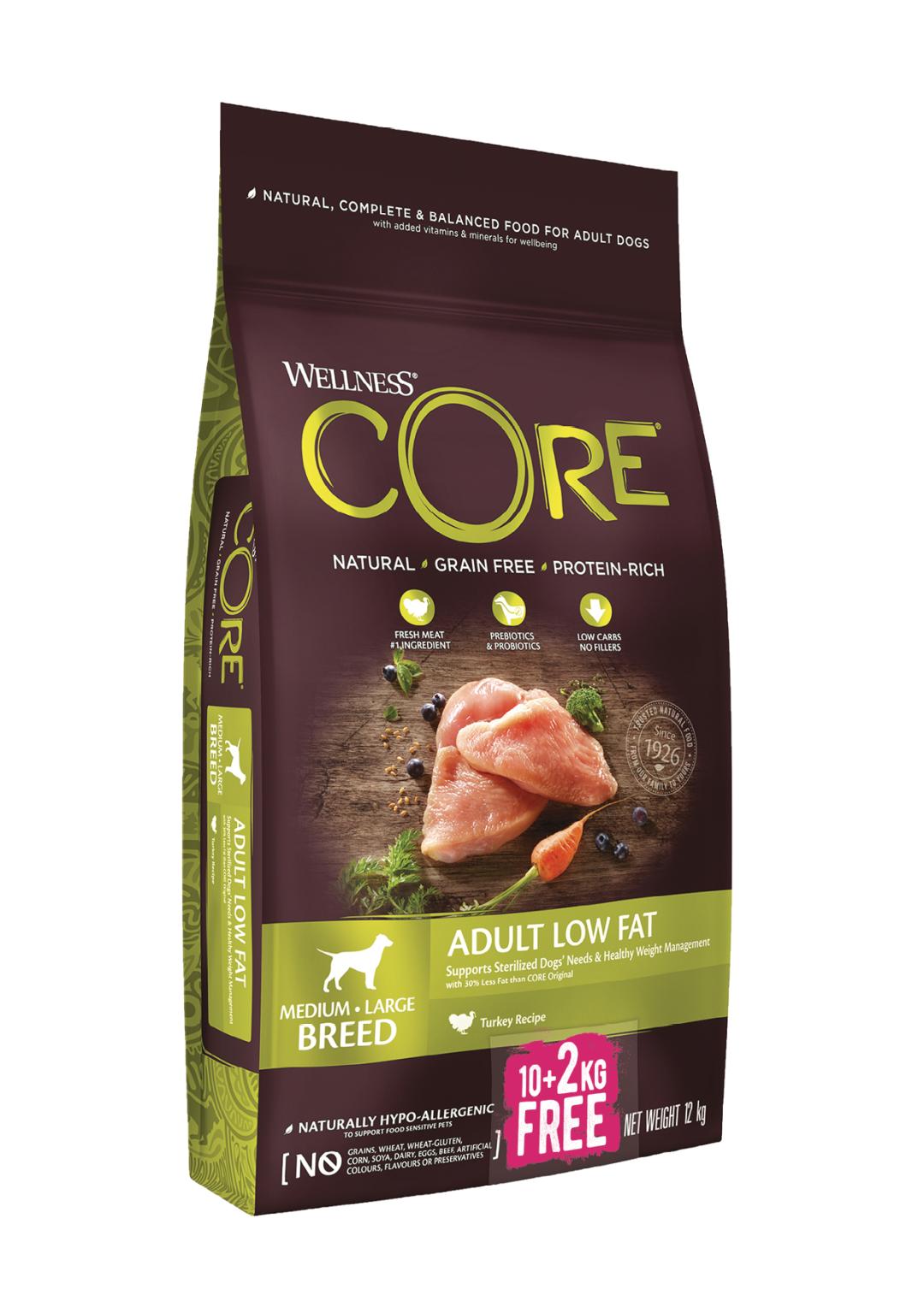 Wellness CORE hondenvoer Healthy Weight 10 + 2 kg