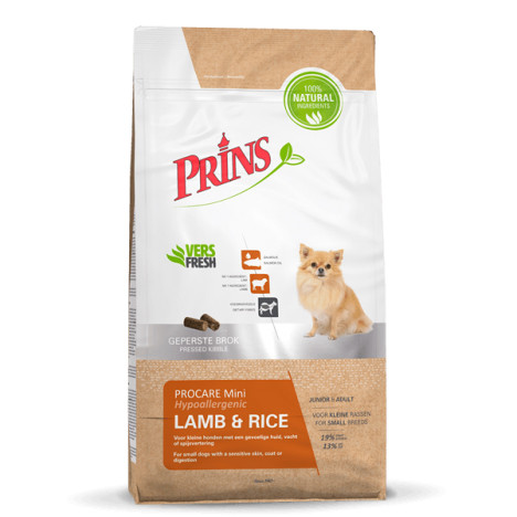 Prins hondenvoer ProCare Mini Lamb & Rice Hypoallergic 3 kg