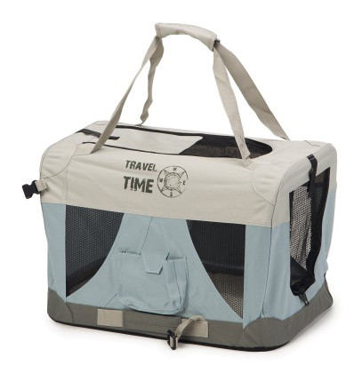 Beeztees nylon bench Travel Time lichtblauw