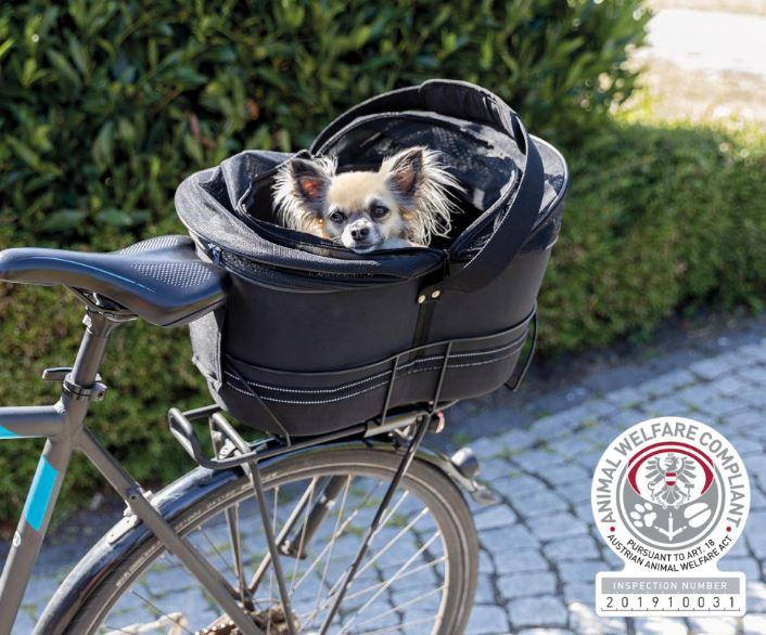 TRIXIE fietsmand voor smalle bagagedragers zwart