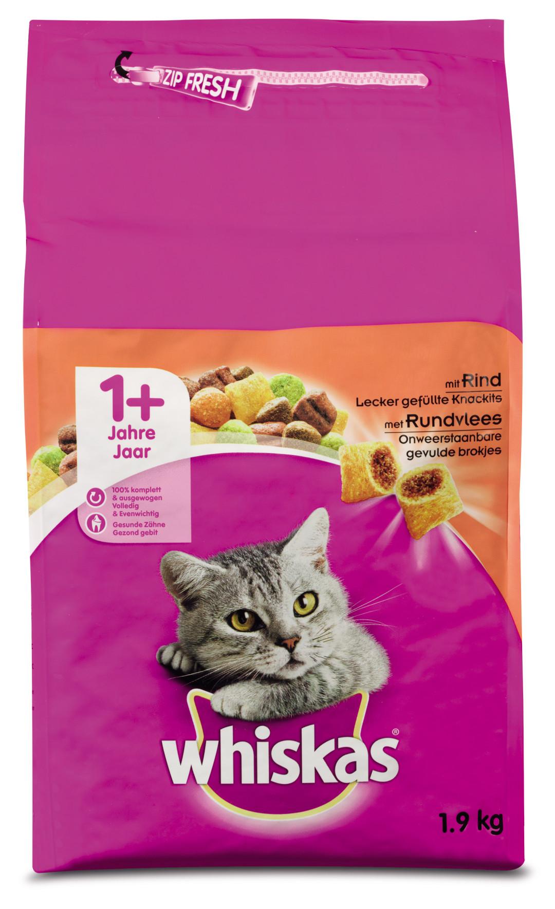 Whiskas kattenvoer Adult rund 1,9 kg