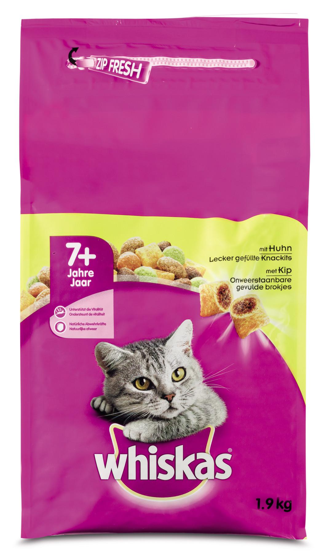 Whiskas kattenvoer Senior kip 1,9 kg