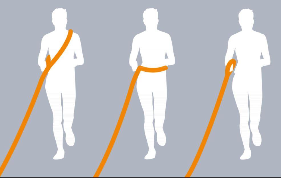TRIXIE jogginglijn grafiet/papaya