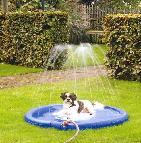 Beeztees Sprinklermat Stay Cool blauw<br> 100 cm