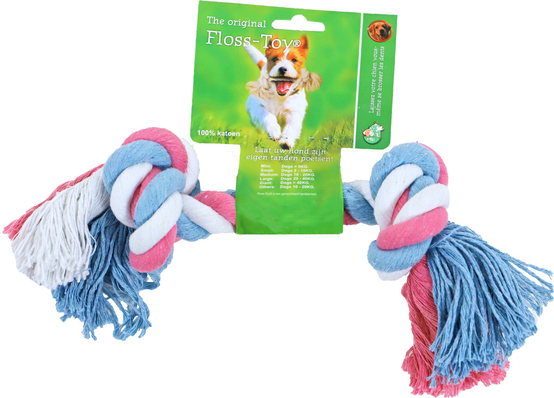 Floss-Toy Medium blauw/roze/wit