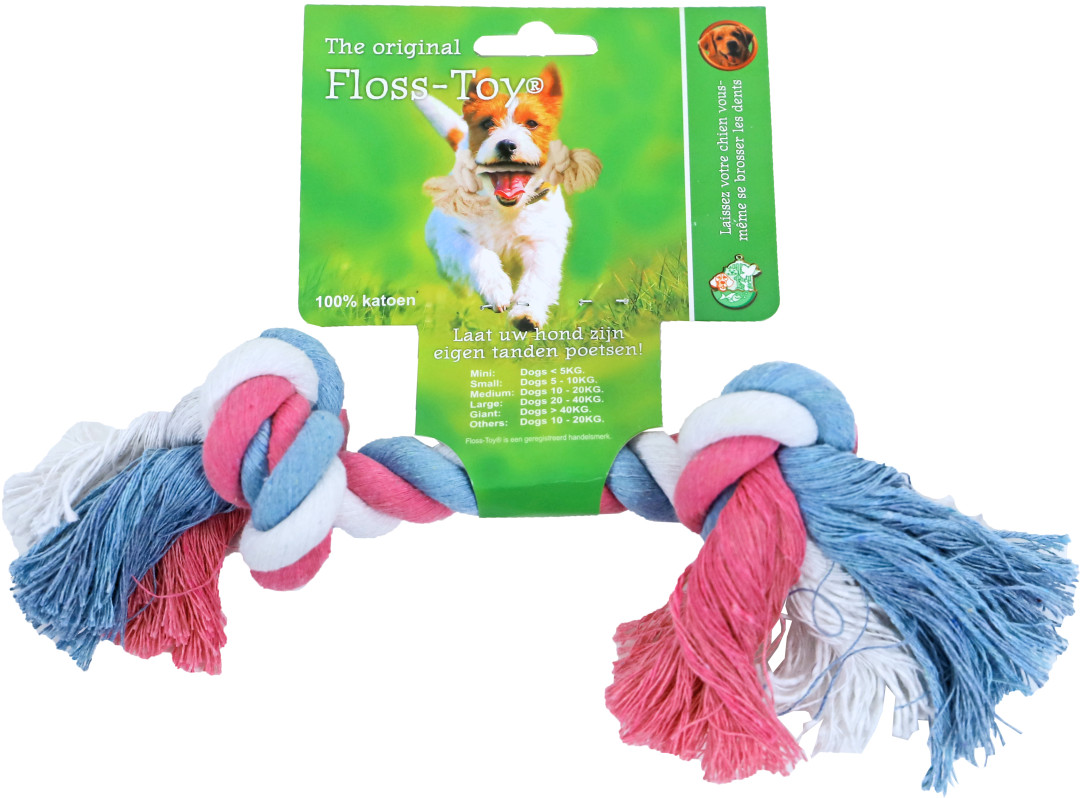 Floss-Toy Small blauw/roze/wit