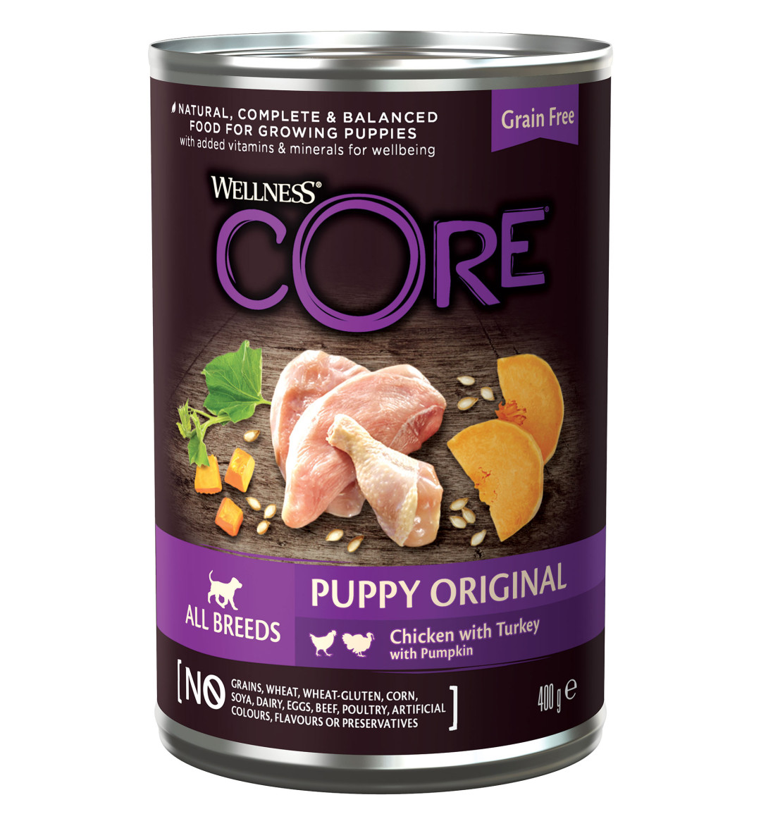 Wellness CORE hondenvoer 95% Puppy chicken/turkey 400 gr