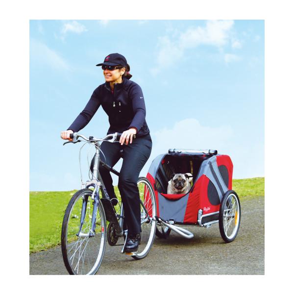 Hondenfietskar DoggyRide Original rood/grijs