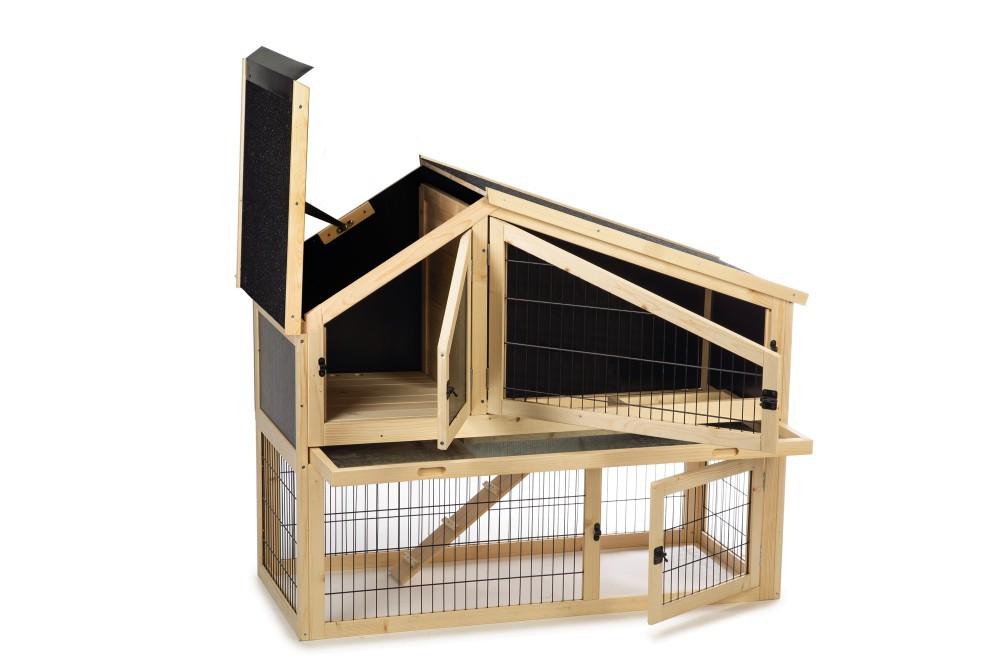 Beeztees houten konijnenkooi Durka