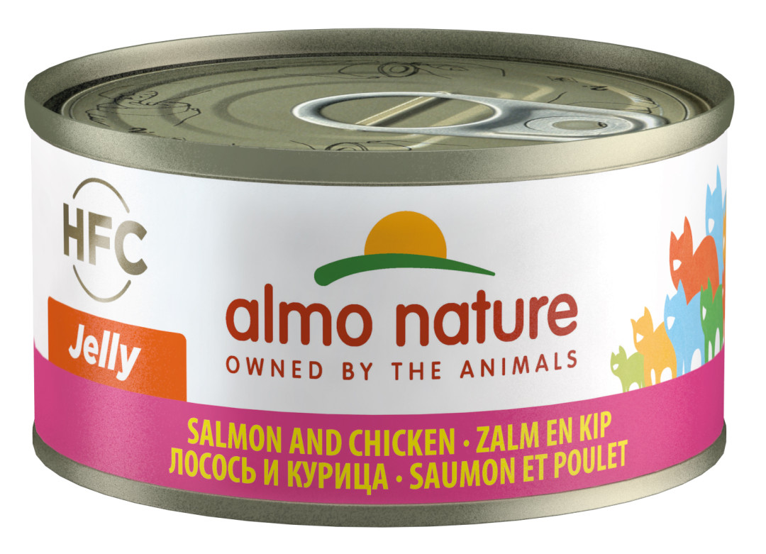 Almo Nature kattenvoer HFC Jelly zalm en kip 70 gr