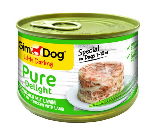 GimDog hondenvoer Little Darling Pure Delight kip/lam 150 gr