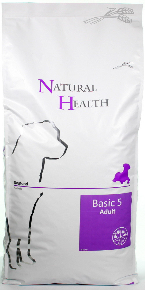 Natural Health hondenvoer Basic 5 Adult 12,5 kg