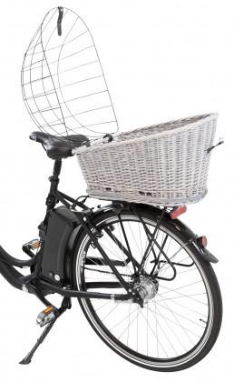 TRIXIE fietsmand met rooster voor bagagedrager grijs