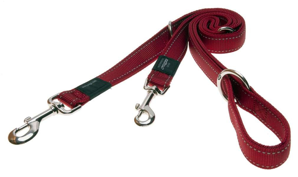 Rogz Beltz Utility hondenlijn Multi red