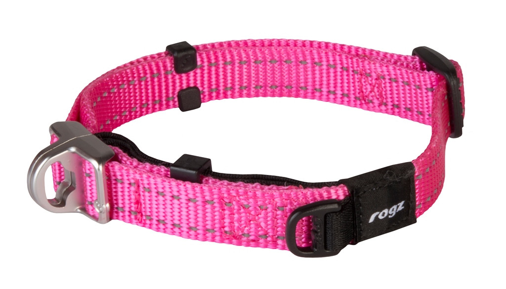 Rogz Beltz Utility halsband Safety pink