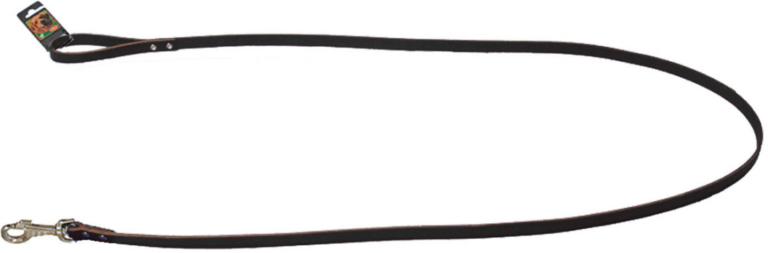 Hondenlijn met karabijnhaak donkerbruin
