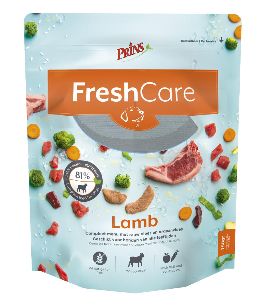 Prins hondenvoer FreshCare Schijven lamb 750 gr