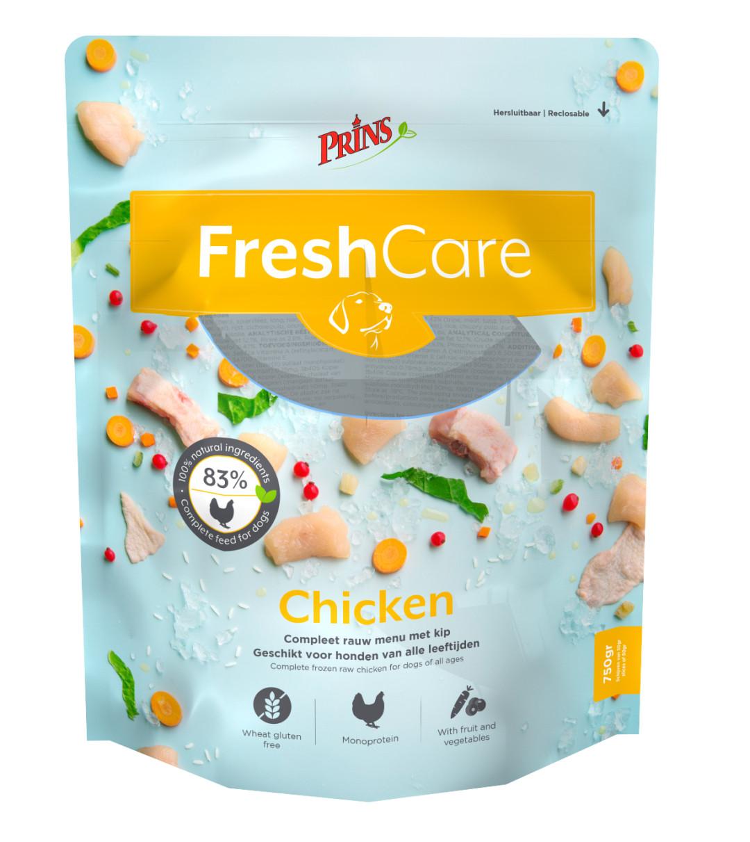 Prins hondenvoer FreshCare Schijven chicken 750 gr