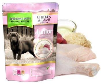 Natures Menu hondenvoer Junior Chicken & Lamb 300 gr