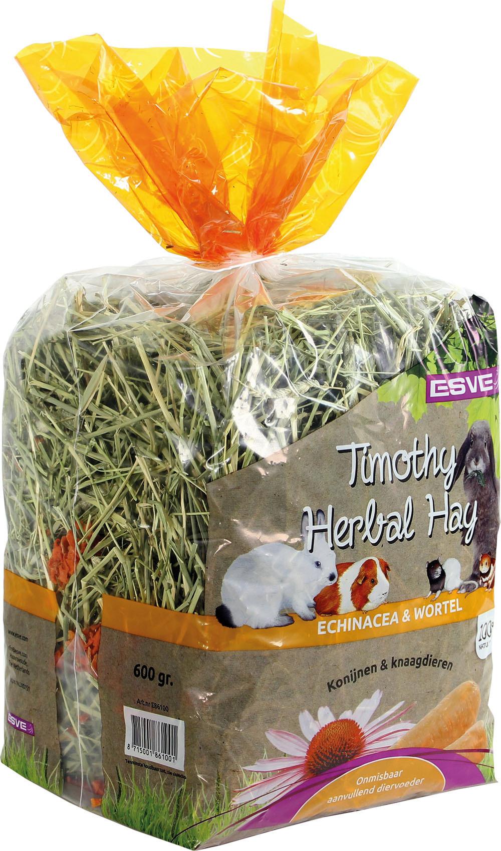 ESVE Timothy Herbal Hay echinacea en wortel 600 gr