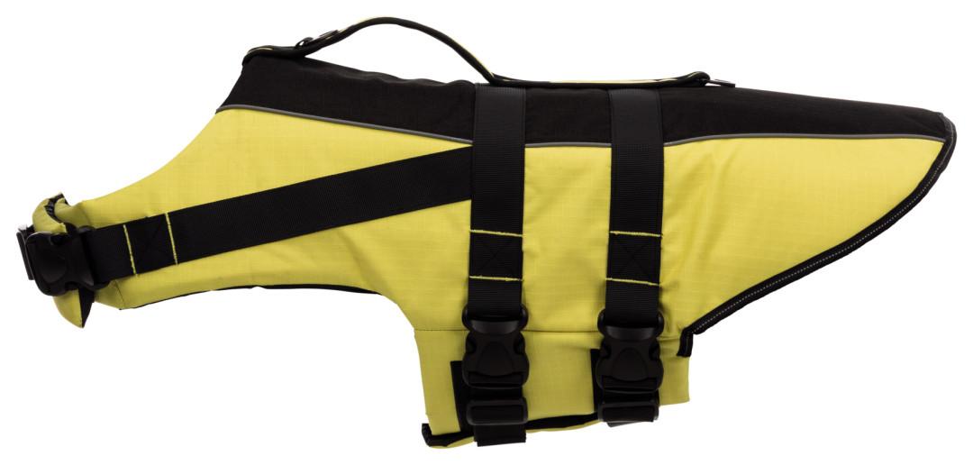 TRIXIE zwemvest voor honden geel/zwart