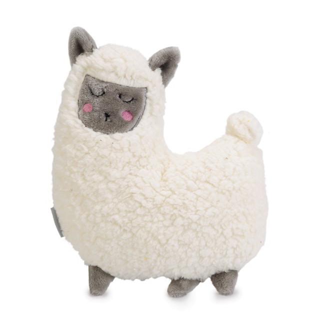 Beeztees Puppy <br>knuffel Lama wit