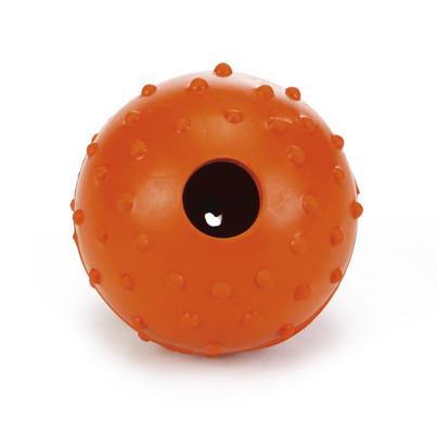 Beeztees speelbal met bel oranje