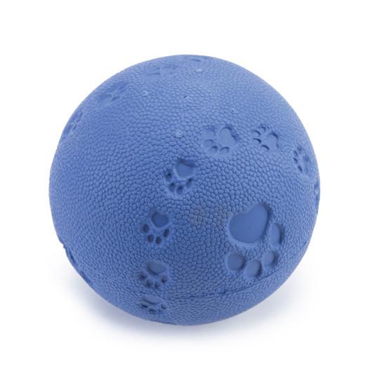 Beeztees speelbal met pieper blauw