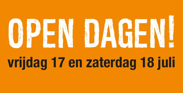 17 & 18 juli: Open Dagen