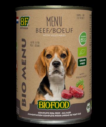 Biofood hondenvoer Bio Rund Menu 400 gr