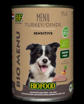 Biofood hondenvoer Bio Kalkoen Menu Sensitive 400 gr