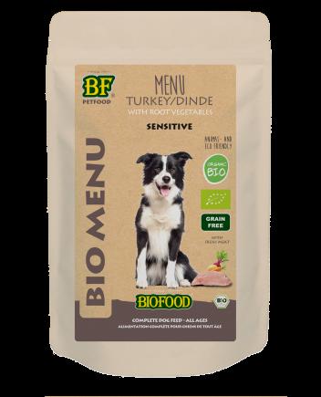 Biofood hondenvoer Bio Kalkoen Menu Sensitive 150 gr