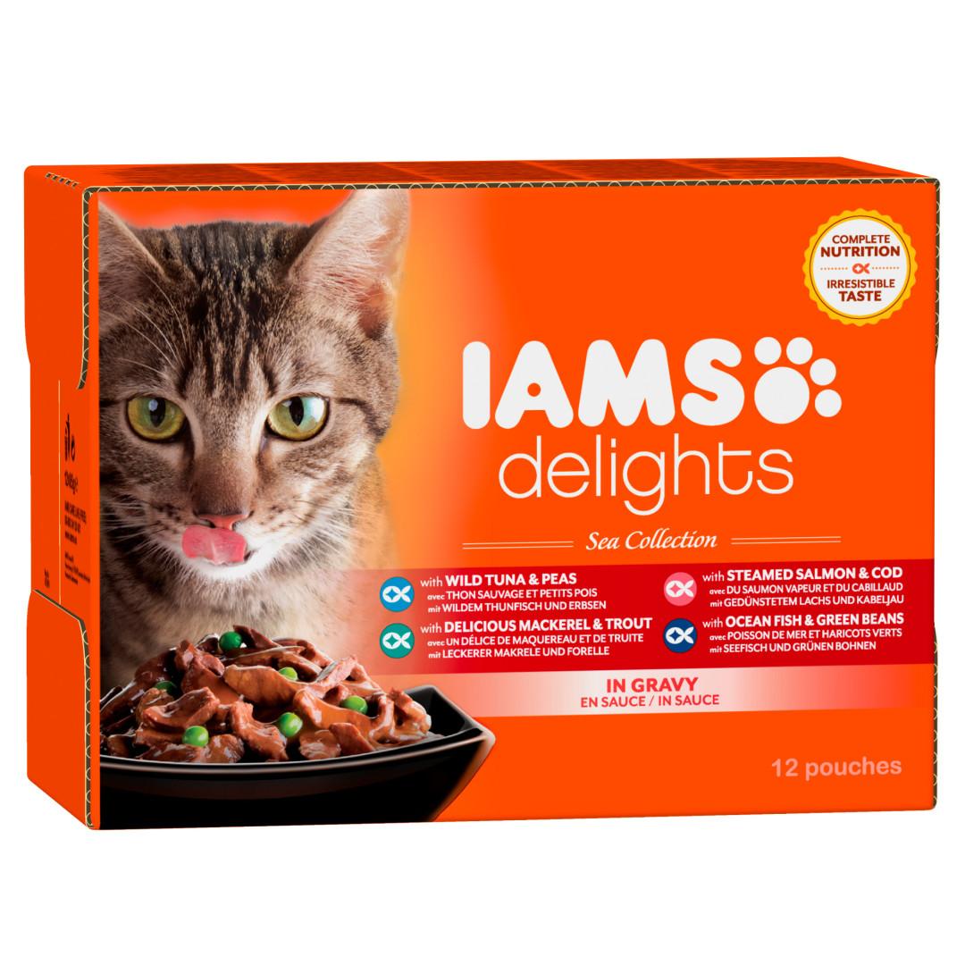 IAMS Delights Sea Collection in Gravy <br>12 x 85 gr