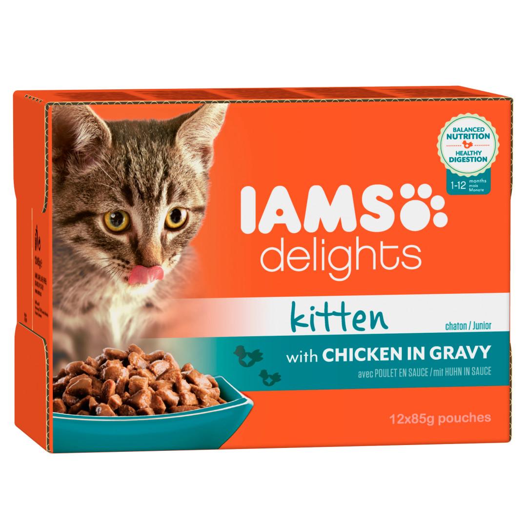 IAMS Delights Kitten in Gravy 12 x 85 gr