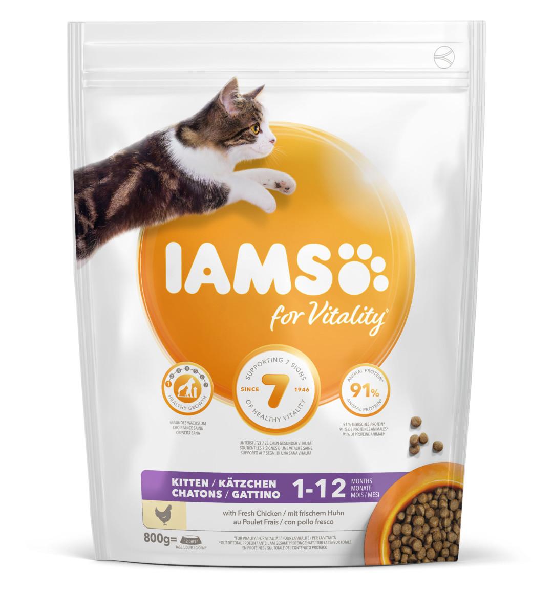 IAMS kattenvoer Kitten Chicken 800 gr