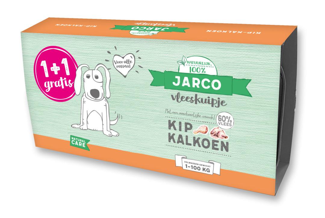 Jarco hondenvoer Vleeskuipjes Kip/Kalkoen 2 x 150 gr