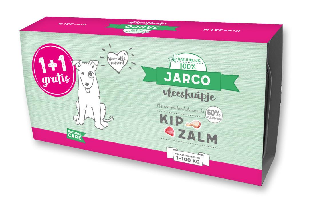 Jarco hondenvoer Vleeskuipjes Kip/Zalm <br>2 x 150 gr