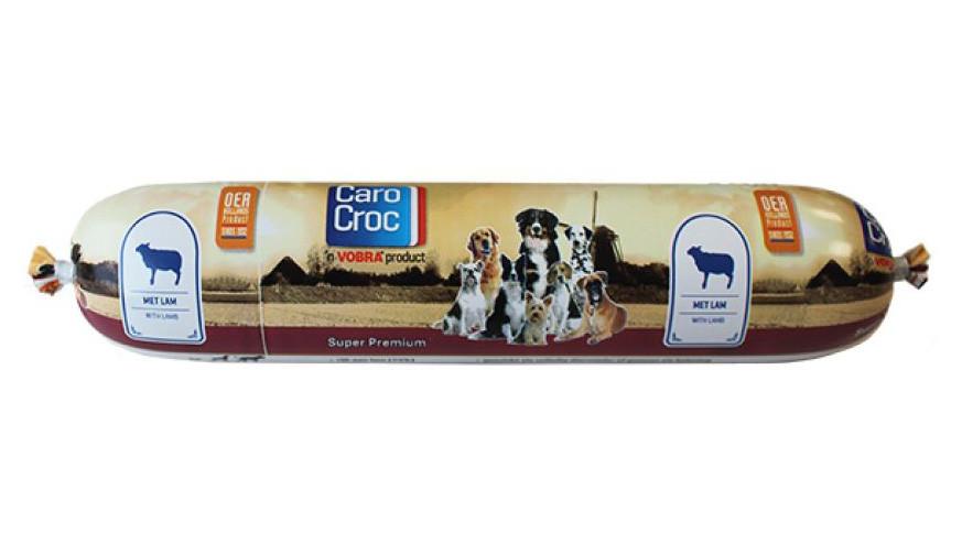 CaroCroc hondenvoer Worst Super Premium Lamb 375 gr