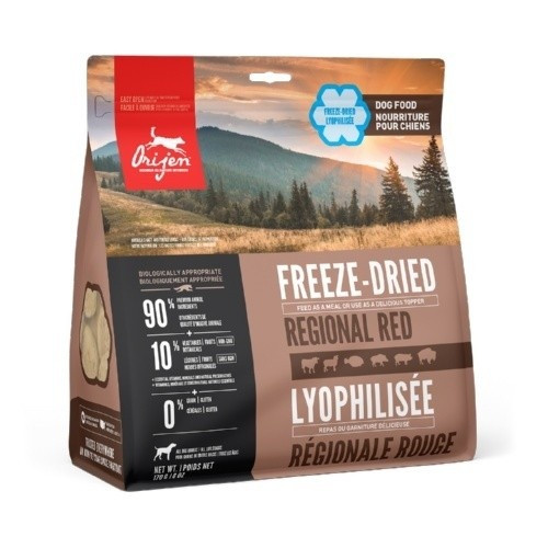 Orijen hondenvoer Freeze-Dried Regional Red 30 medallions