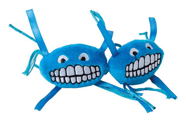 Rogz Catnip Flossy Grinz blue 2 st