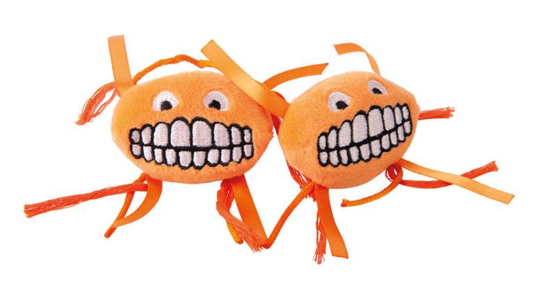 Rogz Catnip Flossy Grinz orange 2 st