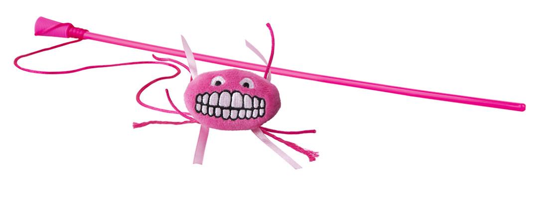 Rogz Catnip Flossy Magic Stick pink