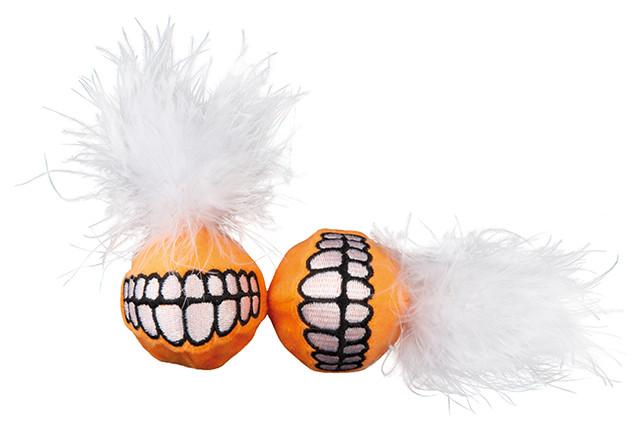 Rogz Catnip Grinz Ball orange 2 st