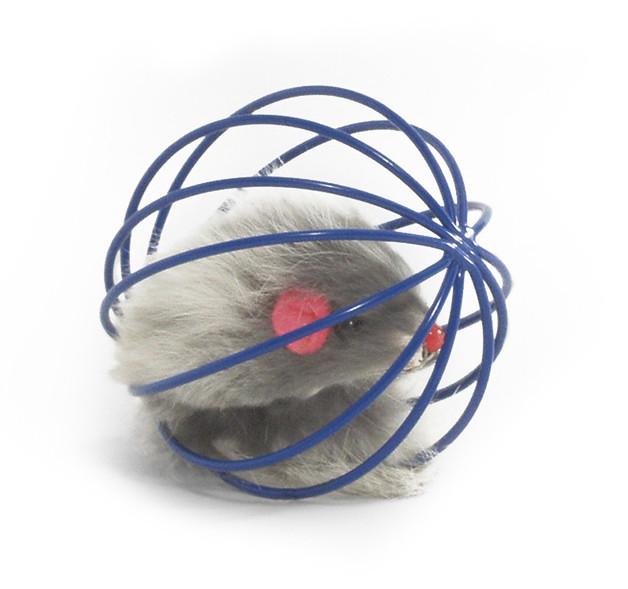 Beeztees Draadspeelbal met muis