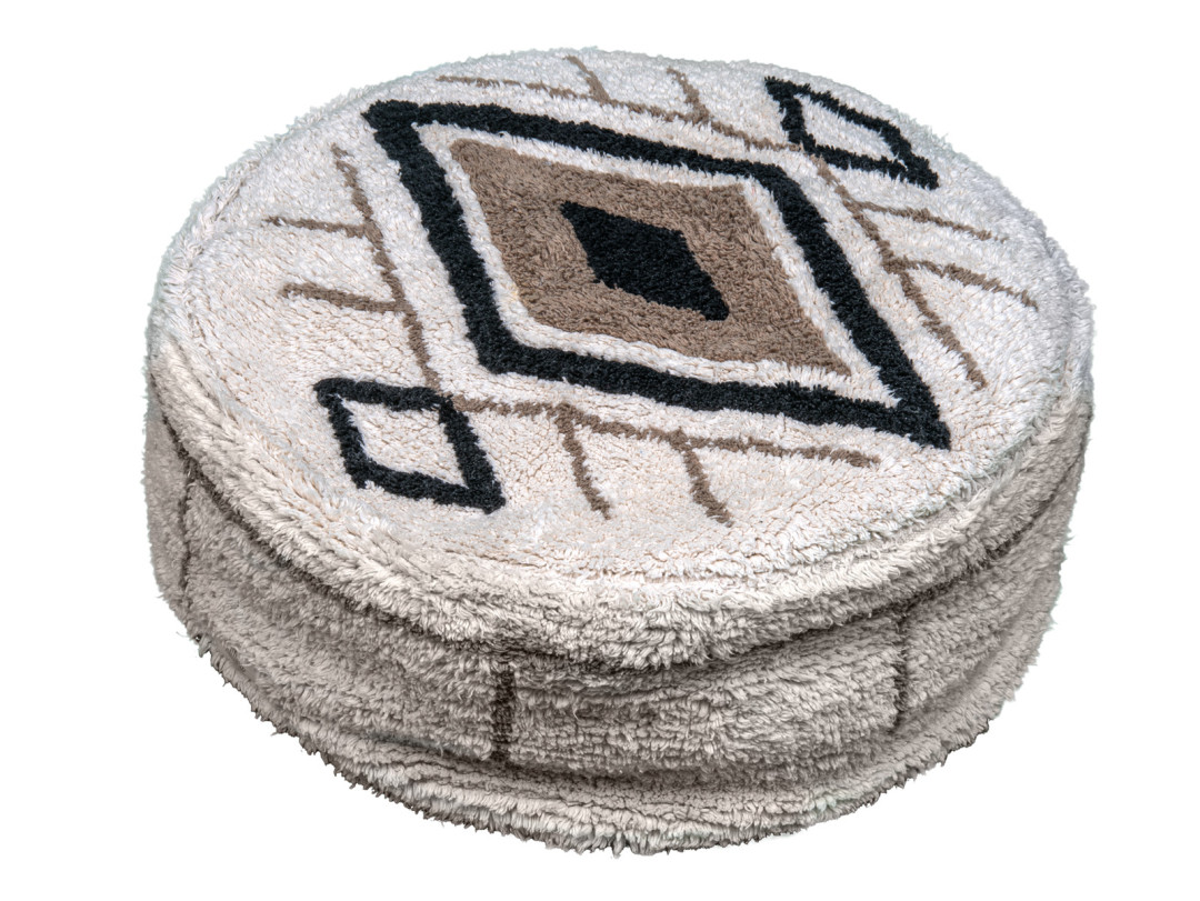 Fantail Poef Berber Caramel