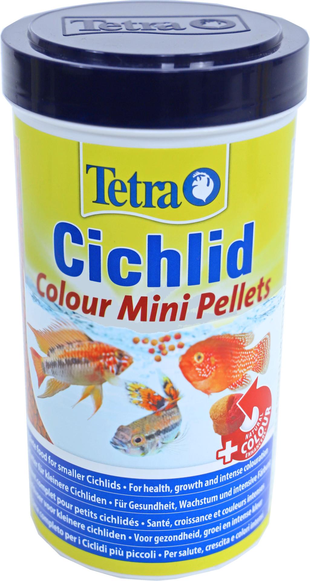 Tetra Cichlid Colour Pellets mini 500 ml